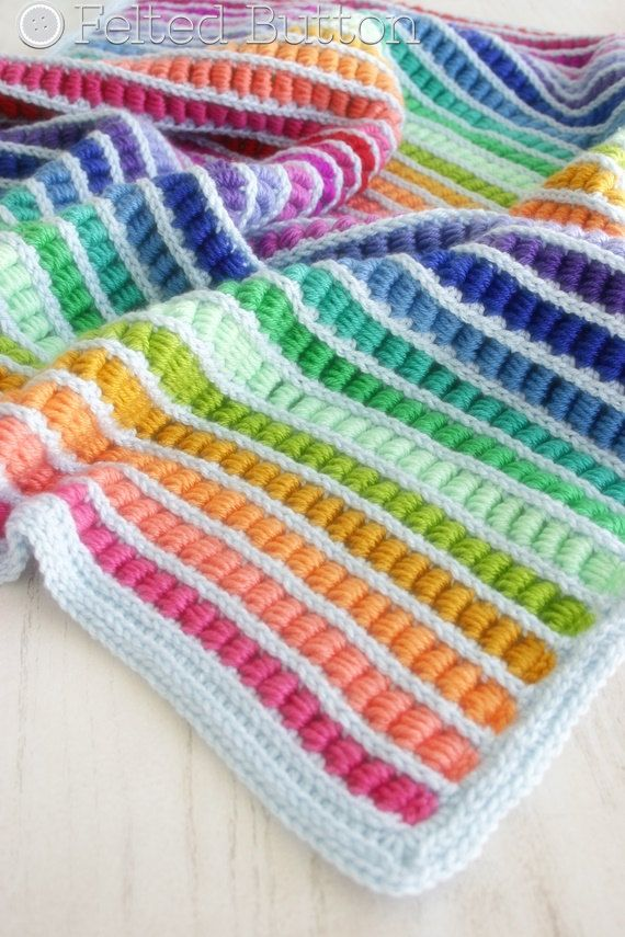 Crochet Pattern Abacus Blanket Baby Afghan Throw by FeltedButton ...