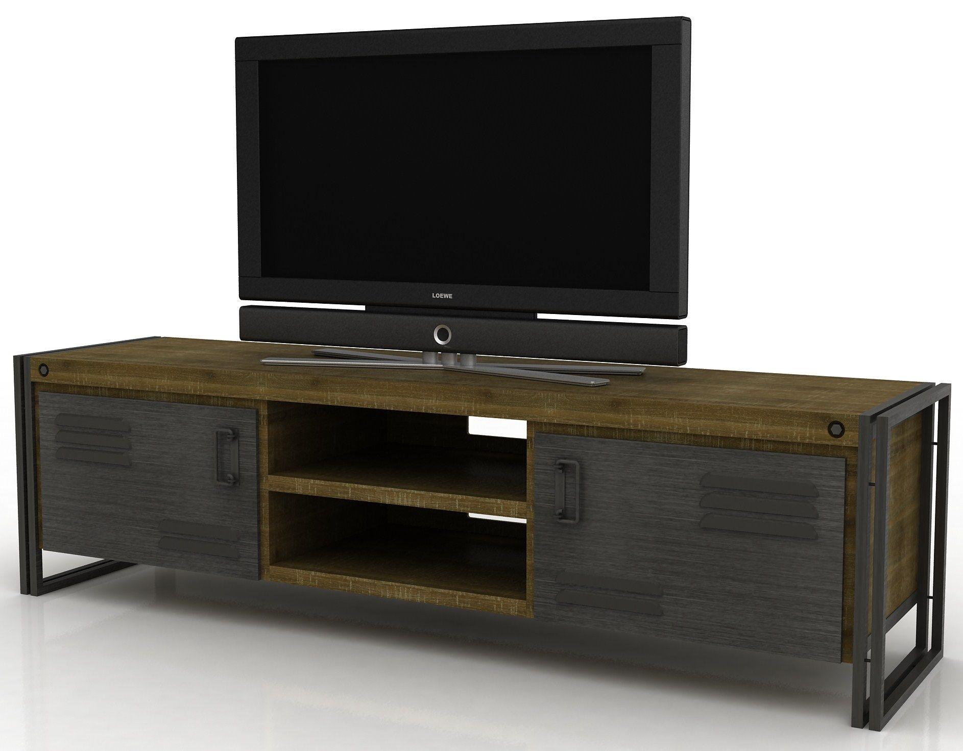 Tv Kast Nl : Industrieële tv kast 180 cm tv lcd plasma meubelen www.houtmijn