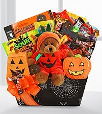 Search for happy halloween bear and halloween sweets #spookybasketideas