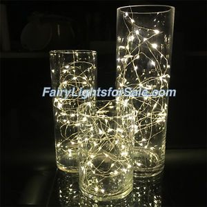 Led String Lights For Centerpieces : Wire LED string fairy light centerpiece vase submersible wedding Wedding Gold Centrepieces ...