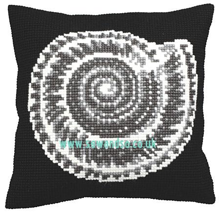 Ammonite Cushion Front Chunky Cross Stitch Kit