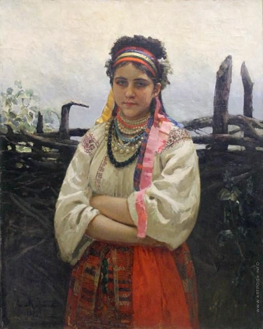 І.Рєпін. Українка біля тину | Етнографія