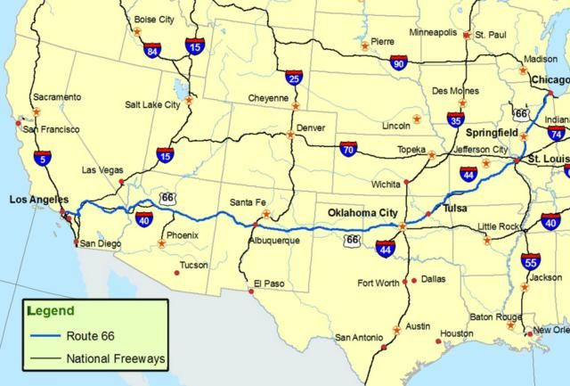 Maps of Route 66 Road Trip Get Your Kicks on This Iconic Road