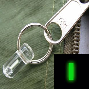 Firefly Glowrings | Firefly Bivvy Zip Pull Marker Glowring - Green (hook on zipper pull for those night time ventures outside)