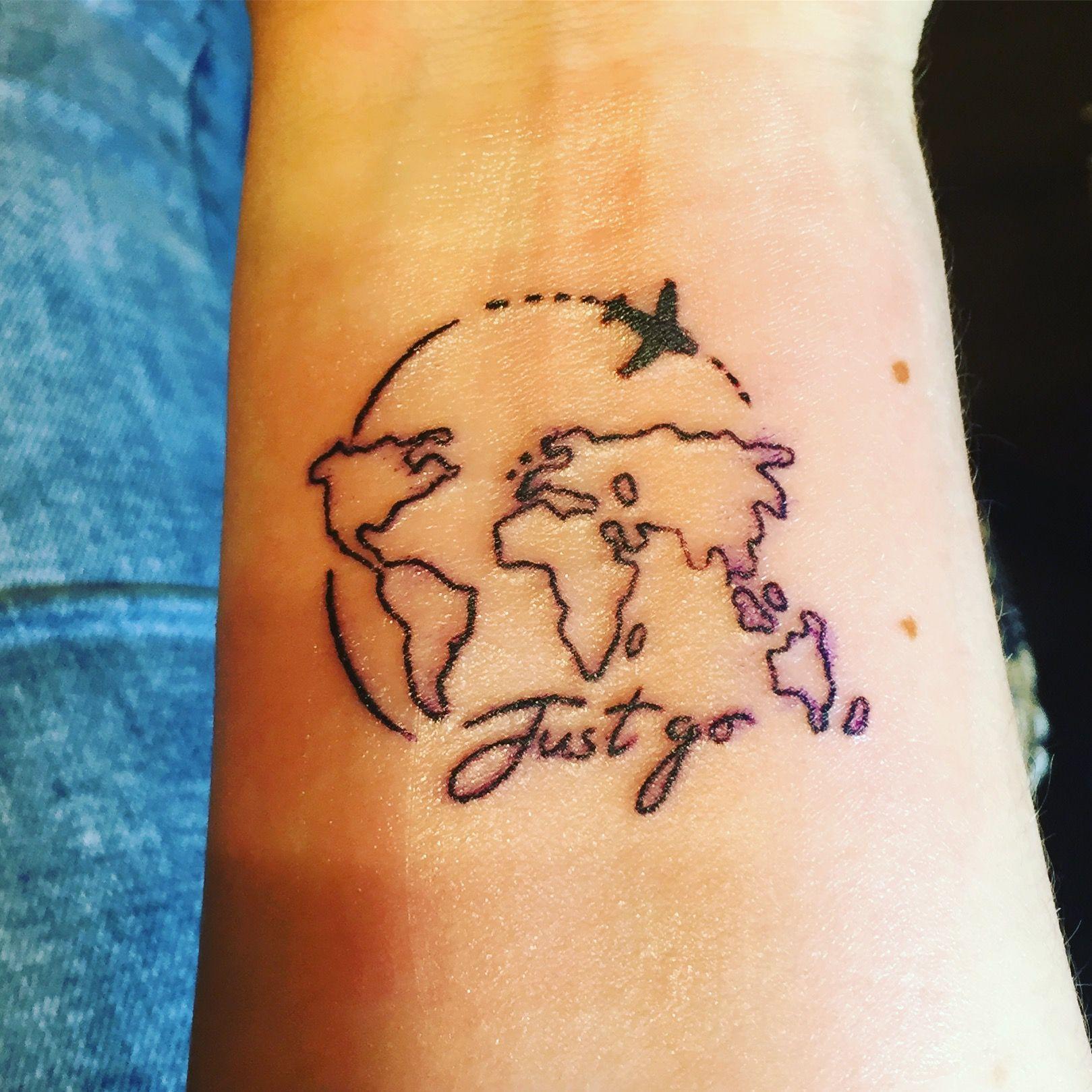 First tattoo travel traveltattoo inked airplane