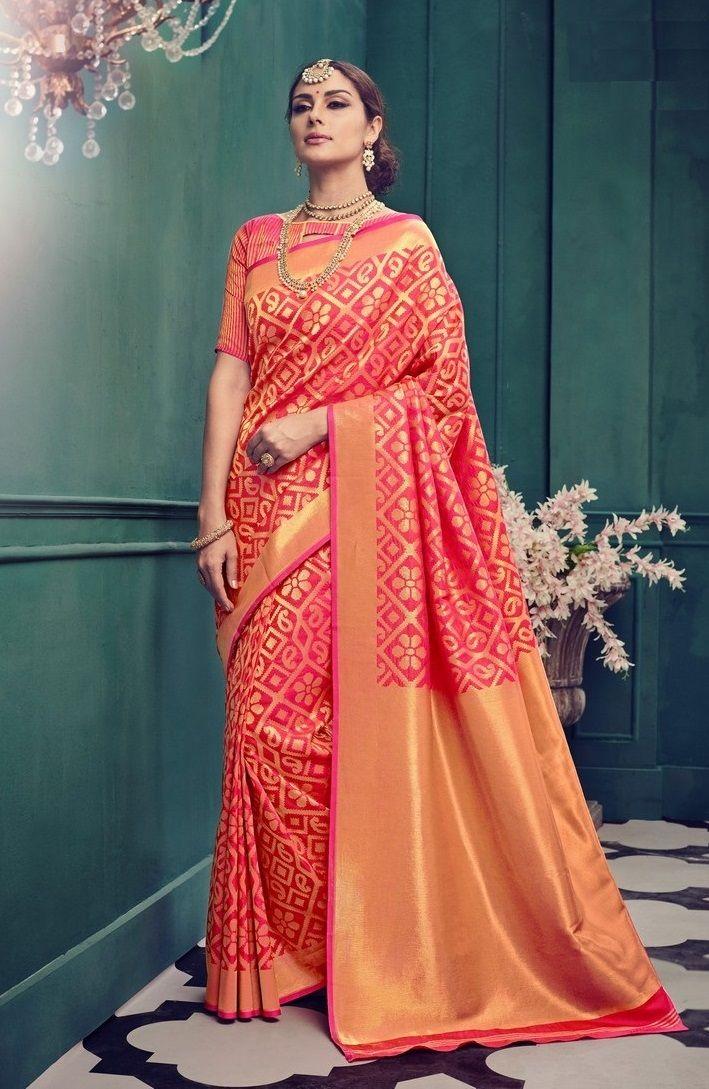 Price 2550.00 INR Colour Pink Saree Fabric
