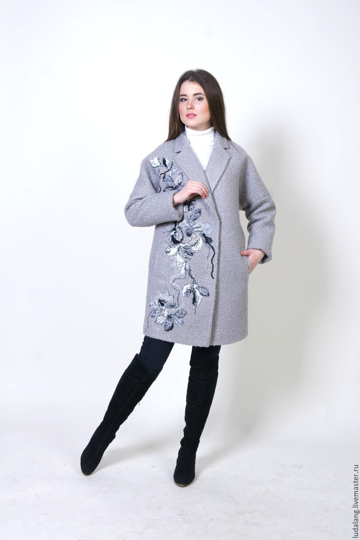 89370438cb9 Купить Пальто Оверсайз Тучка - серый