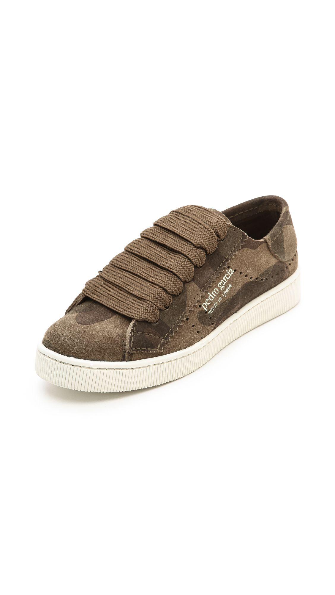 Pedro Garcia Perry Camo Suede Sneakers   SHOPBOP