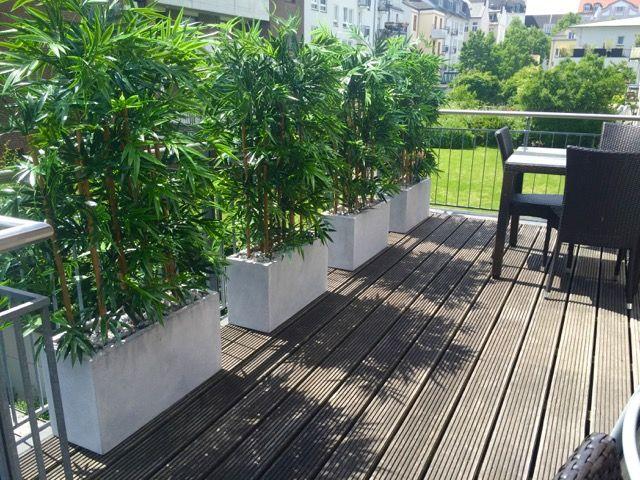 Künstliche Bambushecke Als Sichtschutz Von Bellaplanta