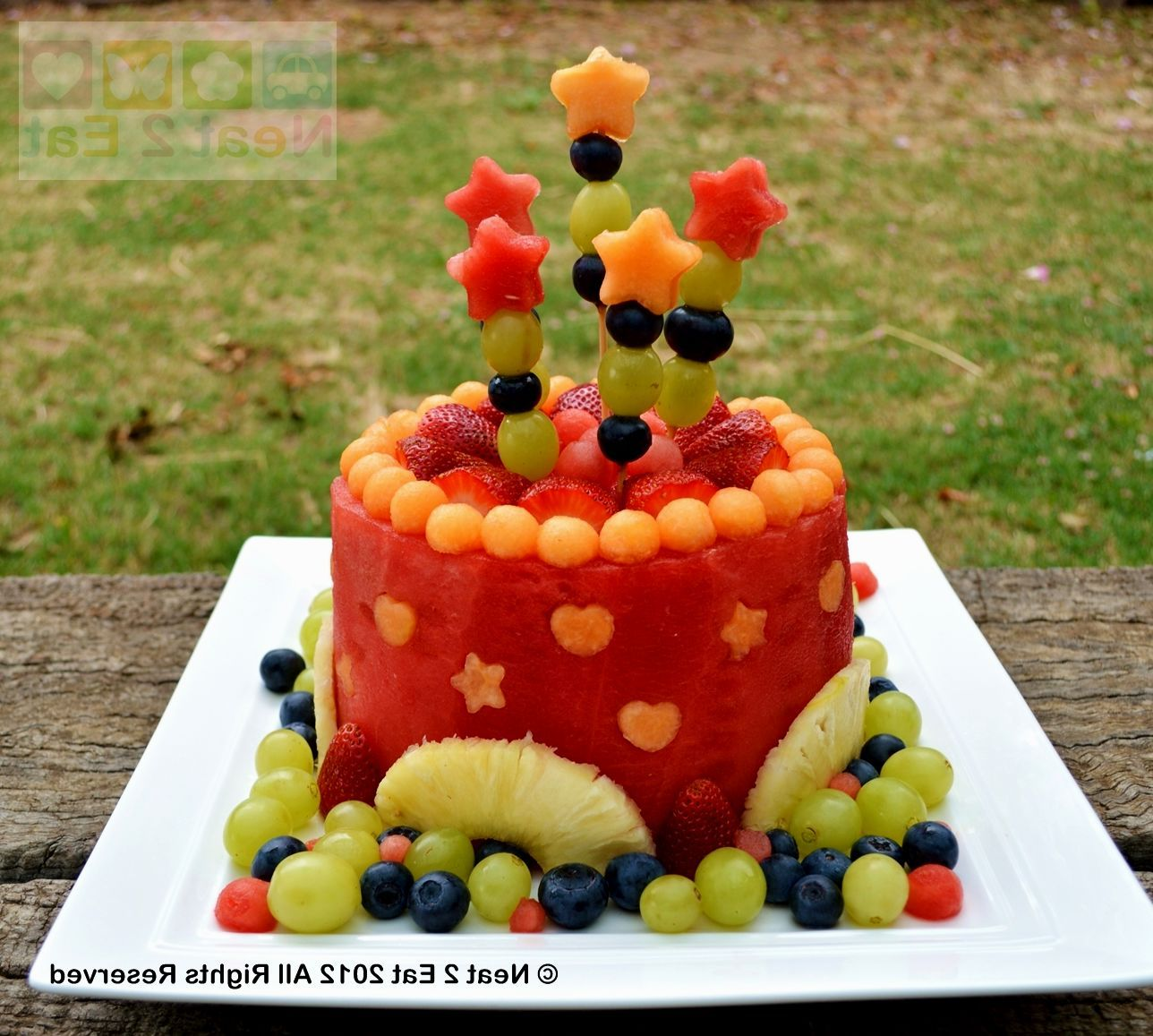 Fruit Birthday Cake Ideas Fruit cake watermelon, Healthy