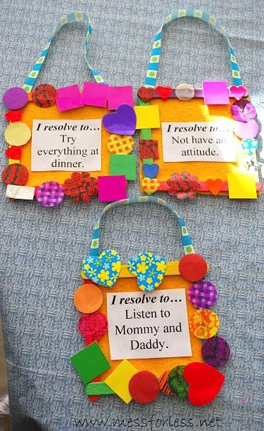 Mess For Less New Year's resolutions idea for kids | New ...
