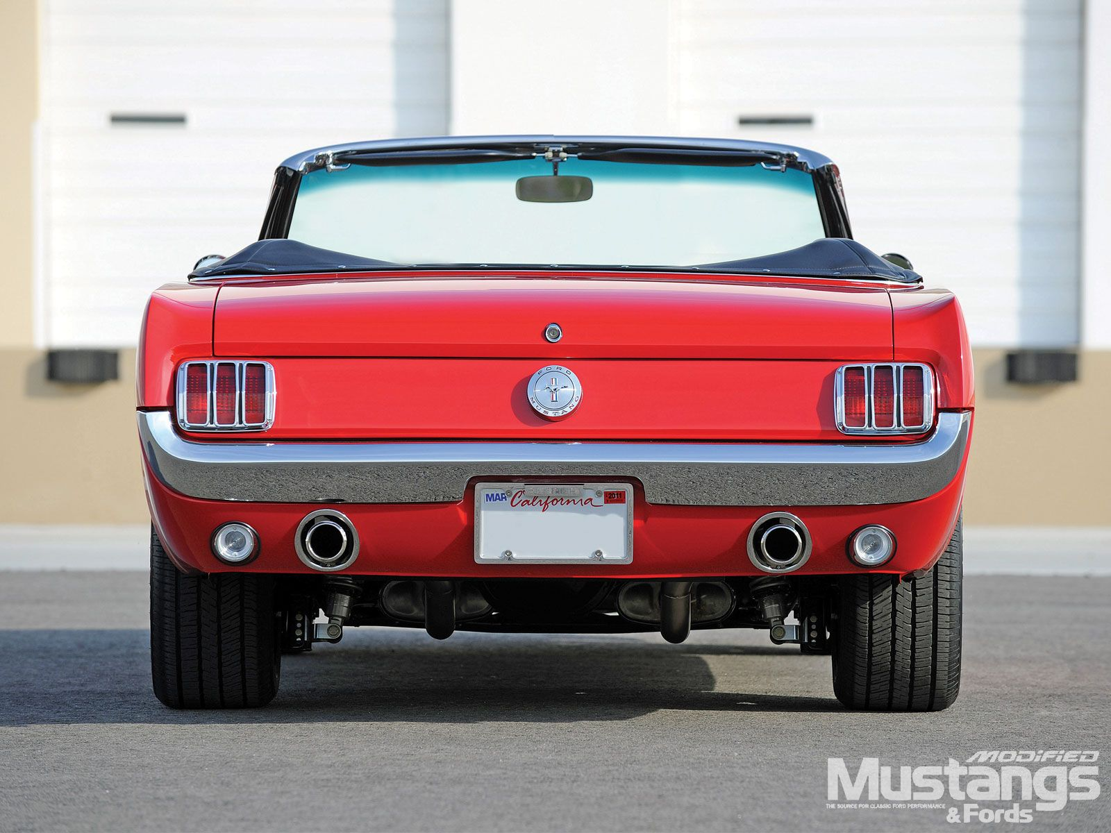1966 Ford Mustang Convertible Rear View  How I ROLL  Pinterest