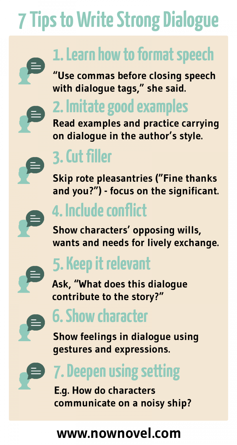 How to write dialogue in a story