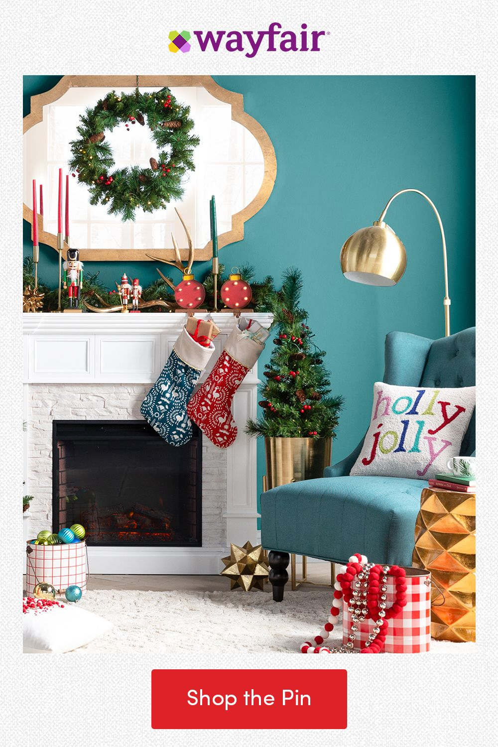 Spread cheer with holiday home decor for your living room! Add a festive flair with cranberry garlands for the mantel, jolly pillows for seating, and gold decor for everywhere else. From the holidays to every day, find everything home with fast and FREE shipping at Wayfair.