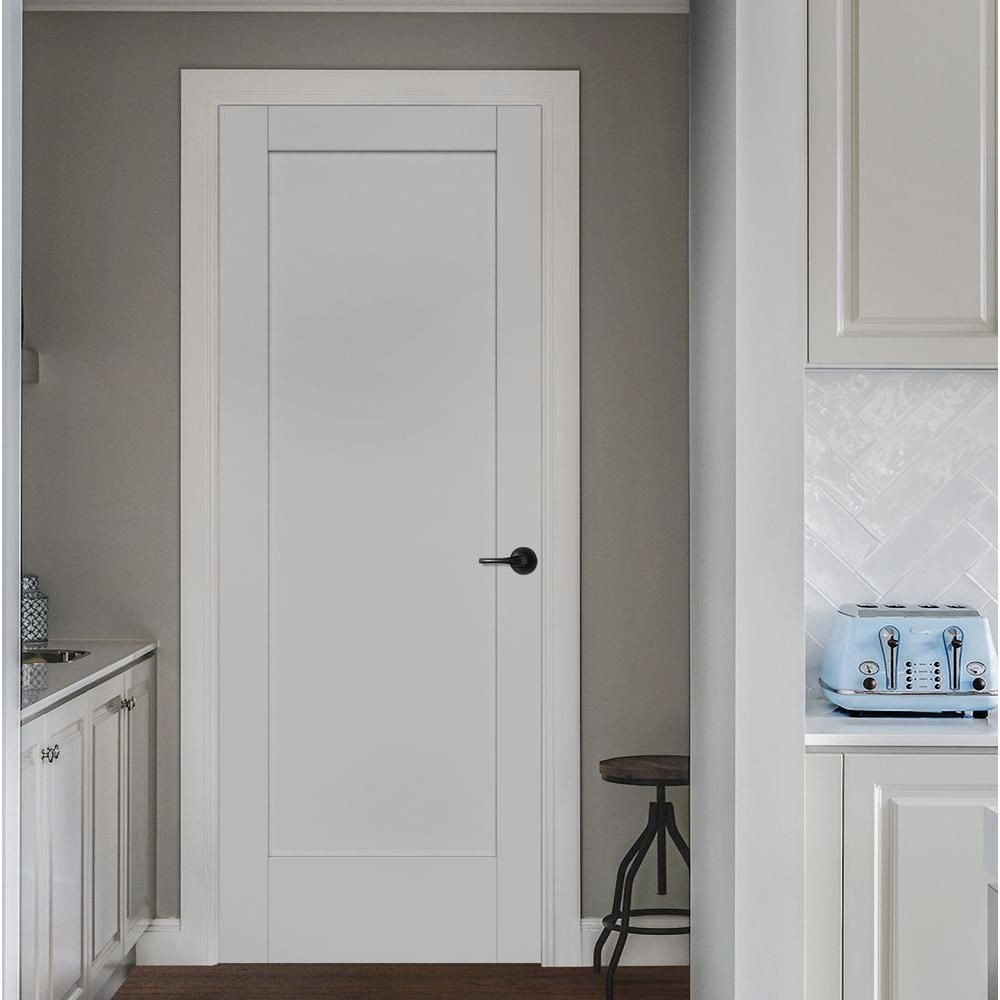 Jeld Wen 36 In X 96 In Moda Primed Pmp1011 Solid Core Wood Interior Door Slab Thdjw221100004 The Home Depot Wood Doors Interior Doors Interior French Doors Interior
