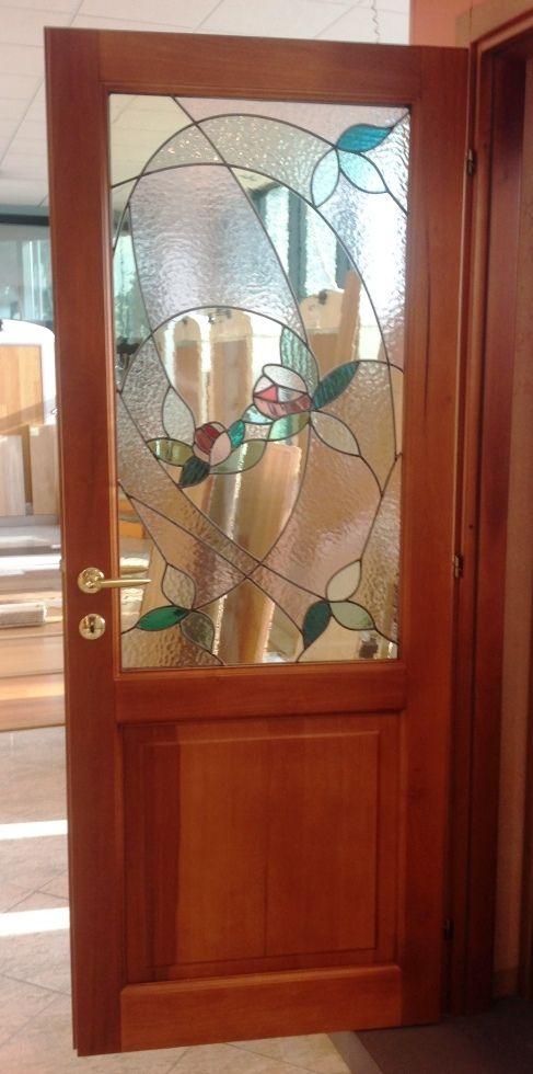 Porta in legno massello toulipier due bugne in tinta - Porte con bugne ...
