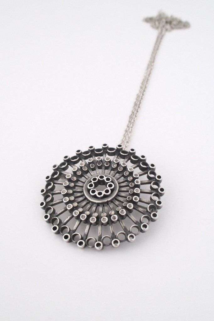 Uni david andersen large silver pendant brooch by marianne berg aloadofball Image collections