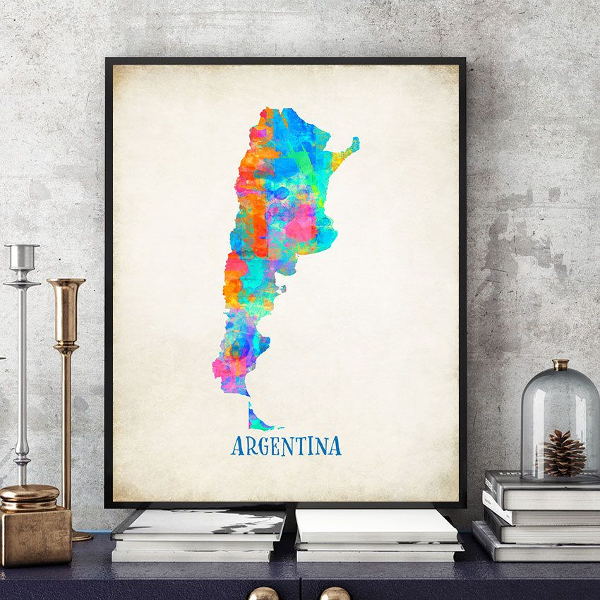 Argentina Map Wall Art Argentina Map Print Map Of Argentina - Argentina map to print