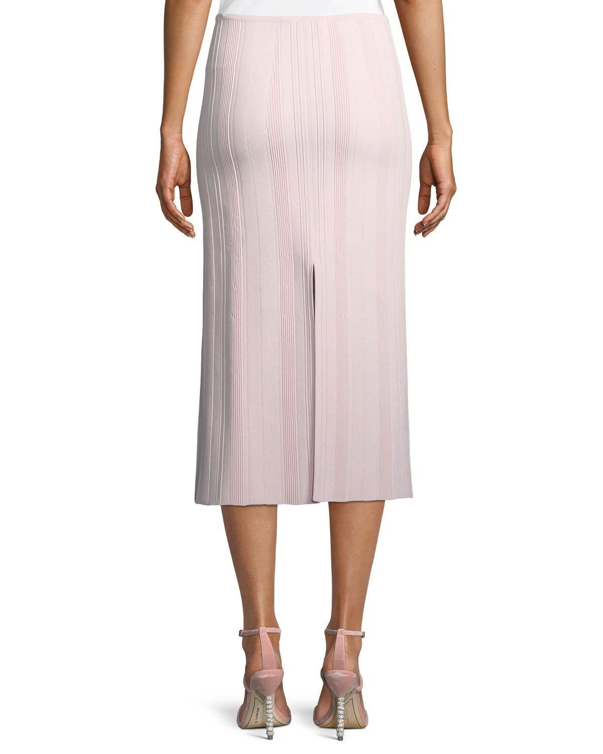 5043502894 Proenza Schouler Double-Slit Ribbed Skirt | Products | Proenza ...