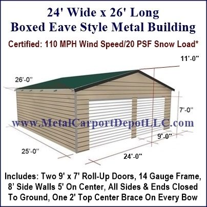 Boxed Eave Style Metal Building Metal Buildings Metal Carports Building