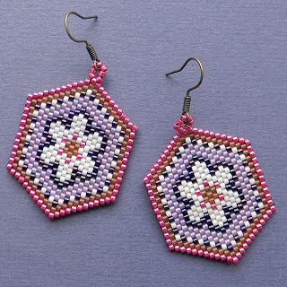 Buy colorful beaded bead earrings with floral patterns ukraine