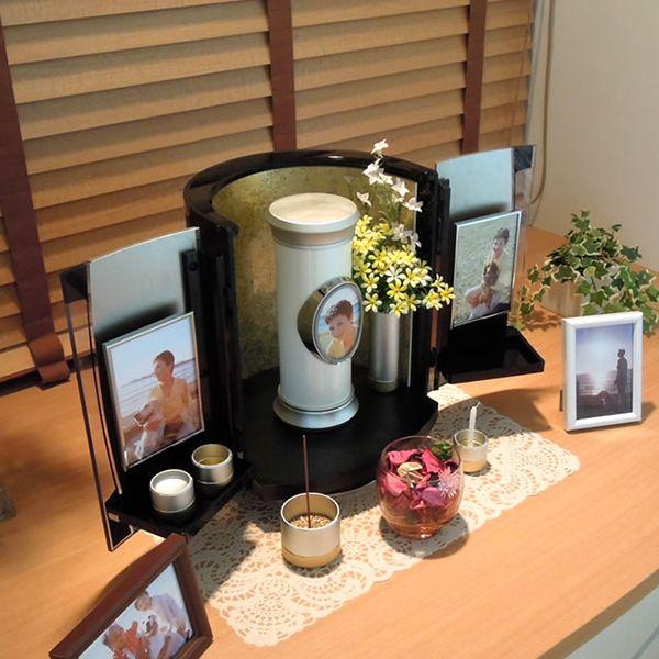 オシャレなお仏壇ソレア 自宅納骨はもちろん 老人ホームへ持っていけるお仏壇 ソレア 仏壇 ミニ 仏壇