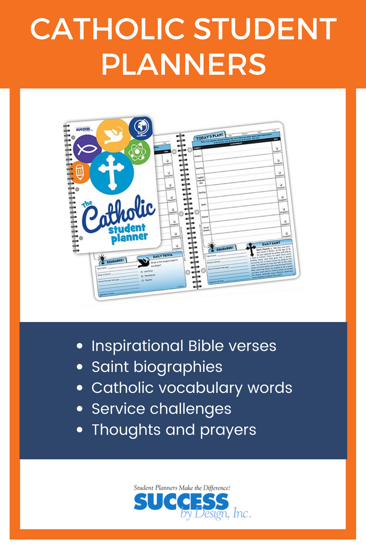 Catholic School Planners and Religious School Planners for Kids