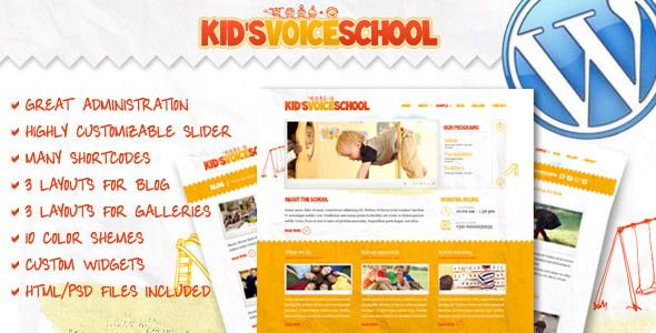 Kids Voice School - Responsive WordPress Theme | Wordpress ...