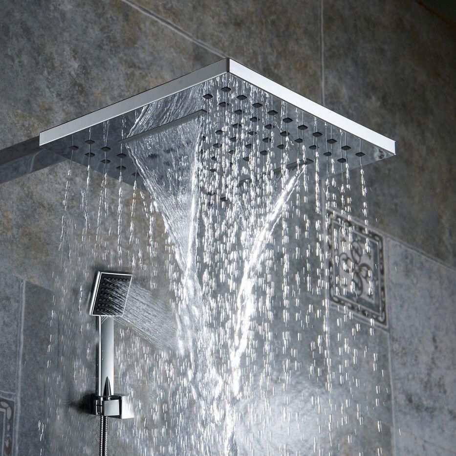 Bathroom 8 Inch Shower Nozzle Pressure Rain Type Handheld Shower Waterfall Type Shower Head And Master Bathroom Decor Waterfall Shower Bathroom Remodel Master