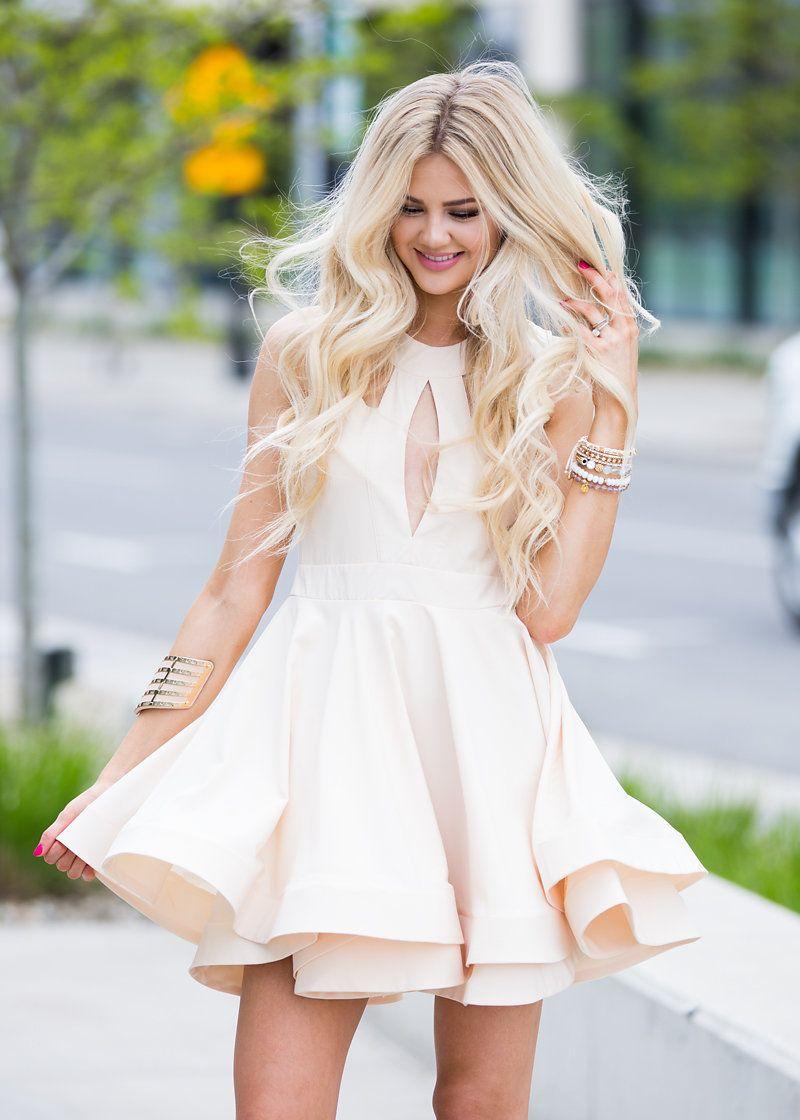 Dress, Short dress, Open back dress, Ivory Dress, Fashion, Style, Online Boutique