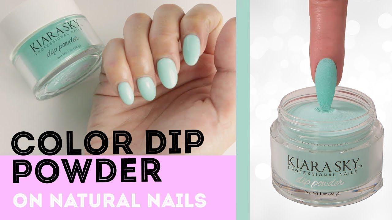 Dip Powder Nails: Color Dip Powder on Natural Nails | Nails ...