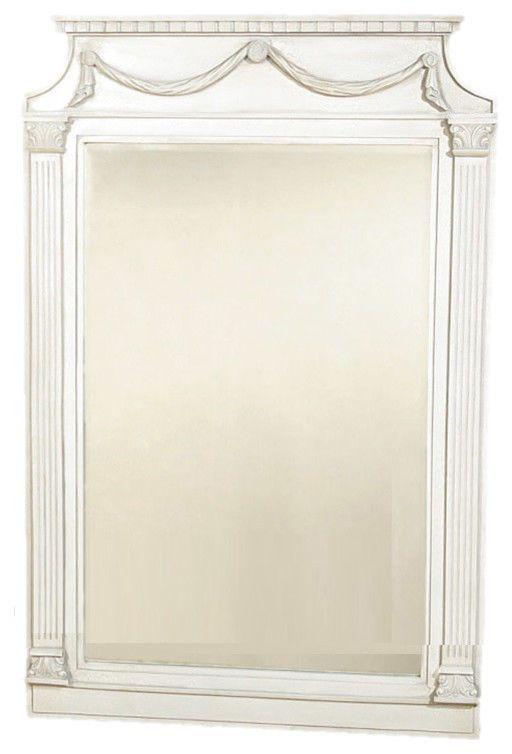 Large white frame swedish gustavian mirror mmr423 238 42 free s