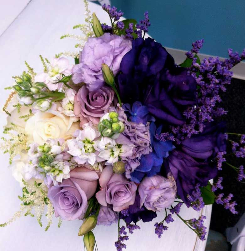 Striking Purple Ombre Bridal Bouquet By A Design Resource In Denver