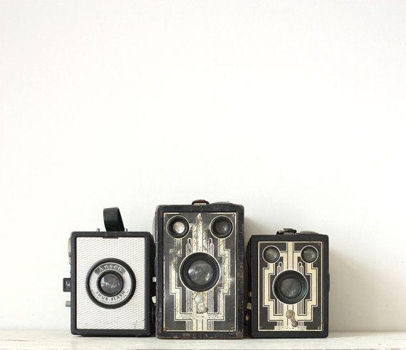Vintage Box Camera Lot of 3 by GallymoggerShoppe on Etsy, $38.00