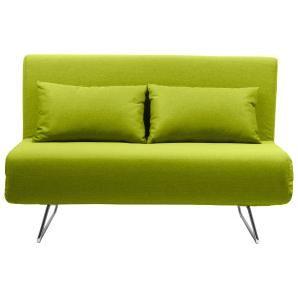 Grünes Schlafsofa - ideal für Übernachtungsgäste!