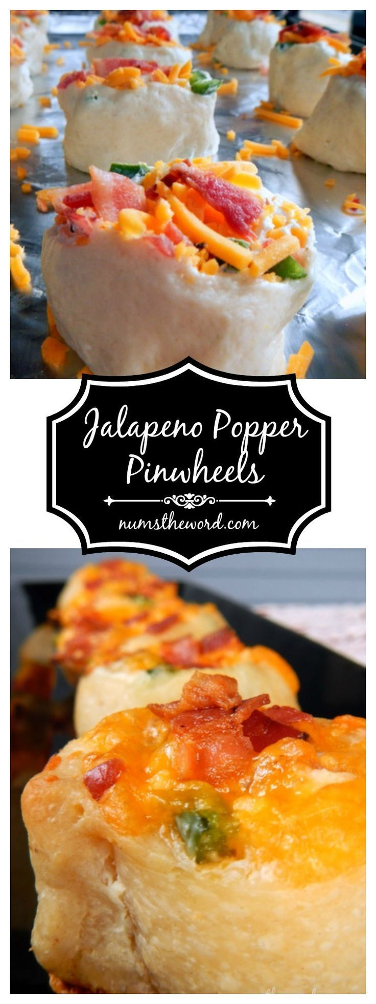 Jalapeno Popper Pinwheels - Looking for a quick appetizer?  This one takes 20 minutes or less and will be a hit with your guests!  Jalapeno Popper Pinwheels are one of our favorite go to appetizer and snack recipes!