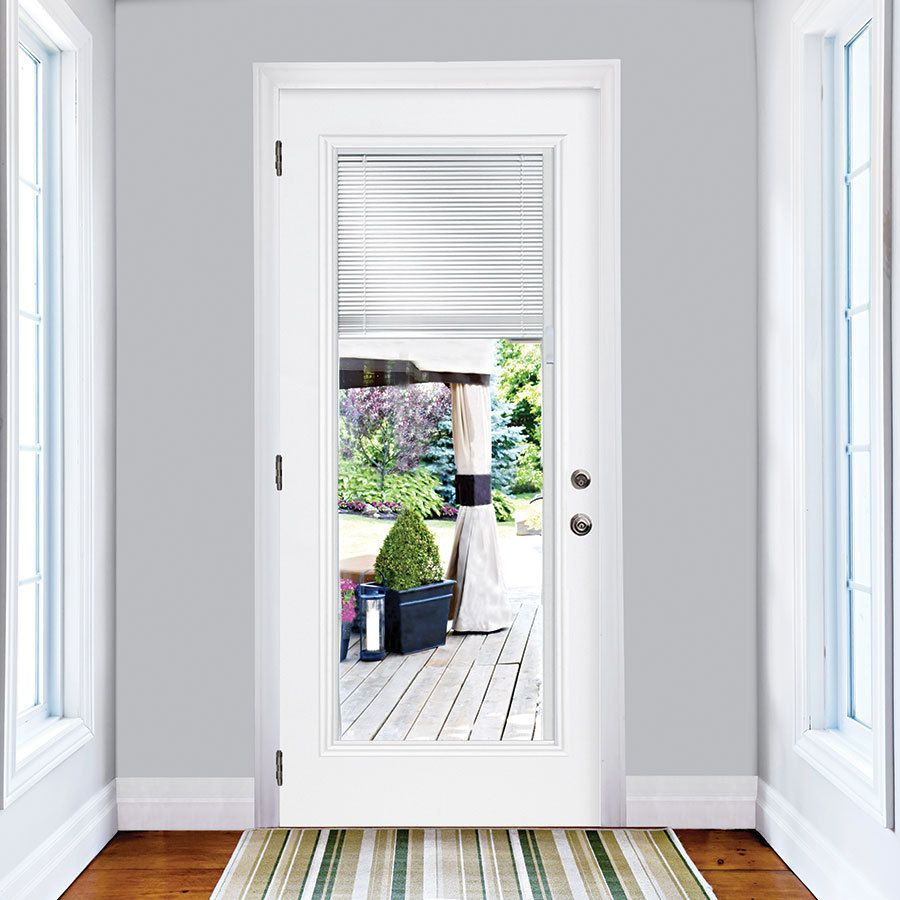 Masonite 2 Panel Insulating Core Blinds Between The Glass Full Lite Left Hand Inswing Steel Exterior Doors With Glass Glass Doors Patio Entry Doors With Glass