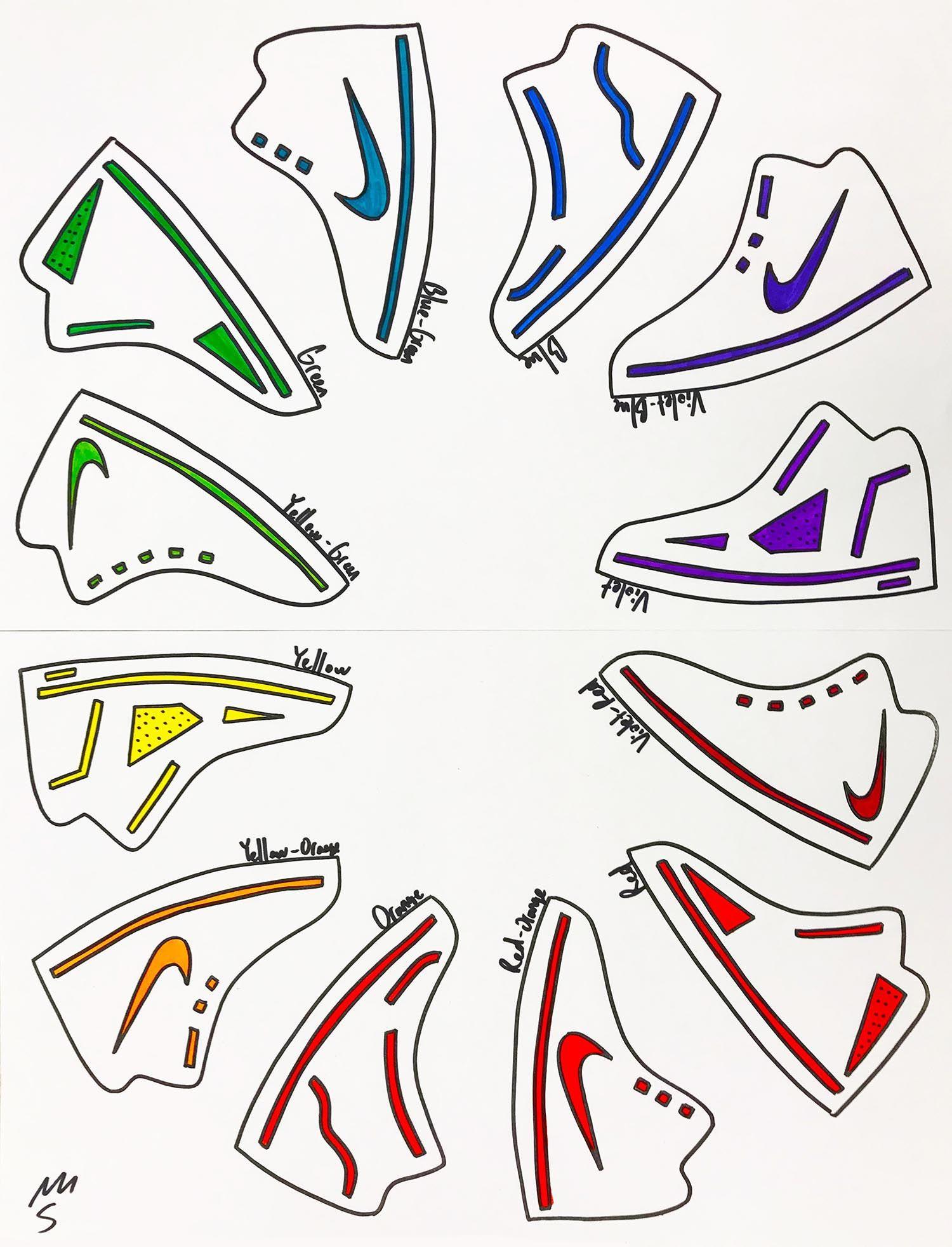 Shoe Color Wheel