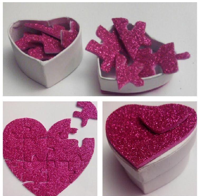 Caja sorpresa para san valentin puzzle de coraz n con - Sorpresas para san valentin originales ...