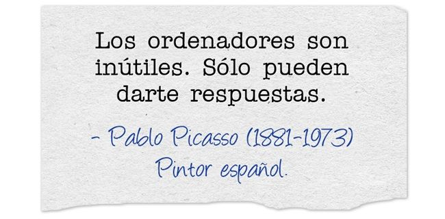 Pablo Picasso (1881-1973) Pintor español.  #citas #frases