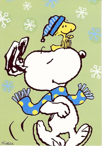 Hallmark Peanuts Snoopy & Woodstock Christmas Card   Schnittmuster ...