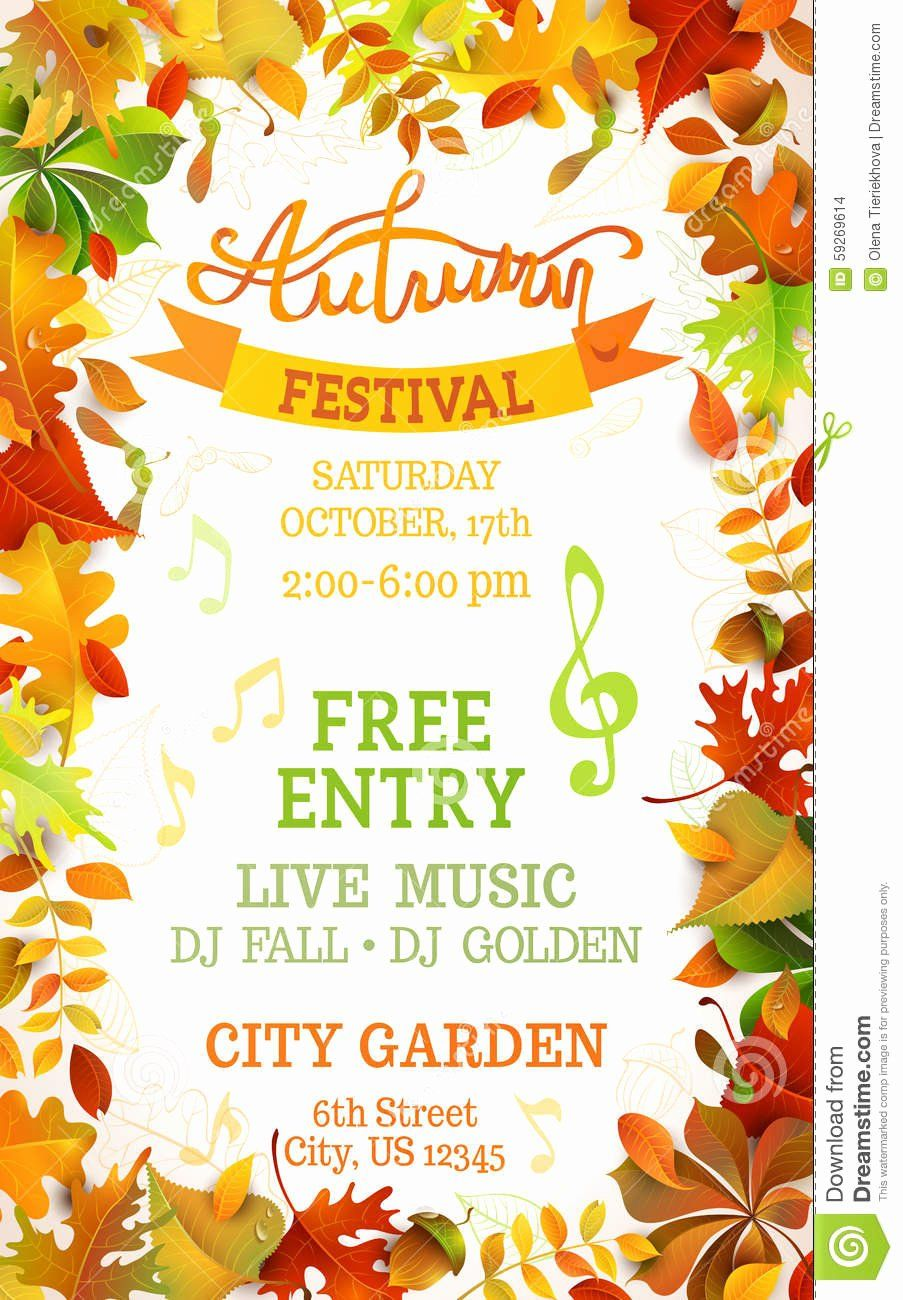 Fall Festival Flyer Template Free Awesome Fall Festival Template Stock Vector Image Of Letter Festival Flyer Flyer Flyer Template Fall event flyer template free
