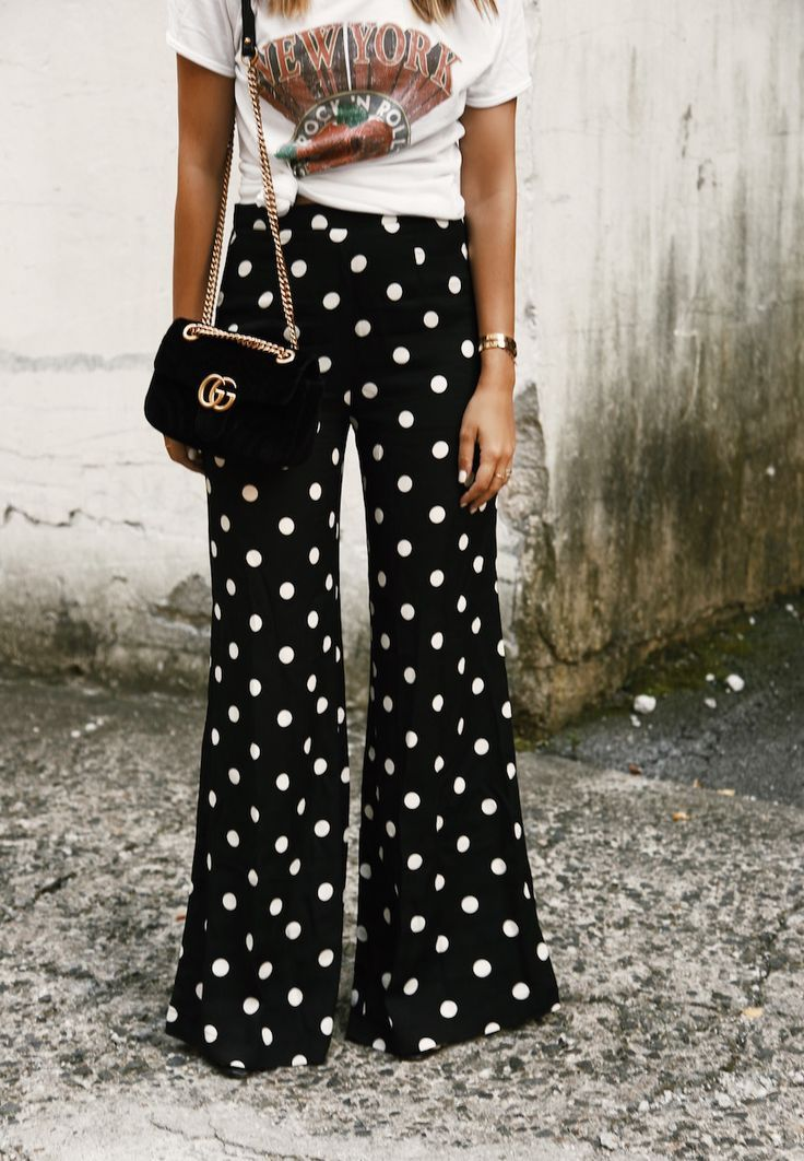 8ac190e07657 love these wide leg polka dot pants for transitioning into fall ...