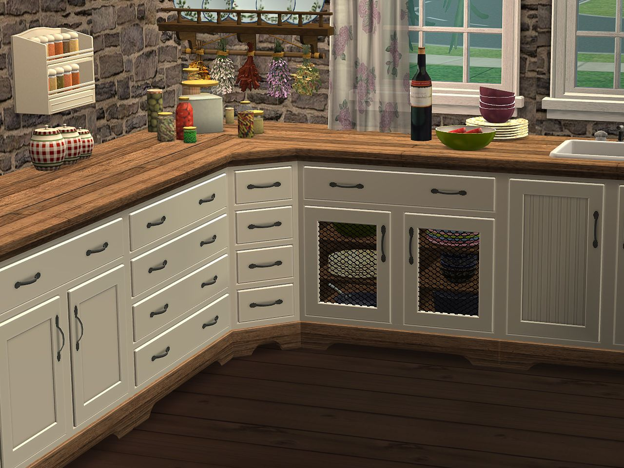 Downloads at SIMbiosys | Country kitchen, Kitchen cabinets ...