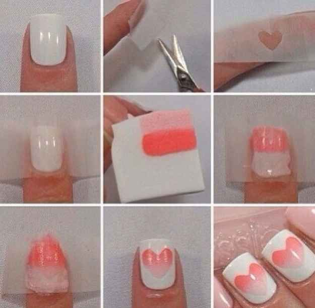 26 Ridiculously Sweet Valentine\'s Day Nail Art Designs   Diseños de ...