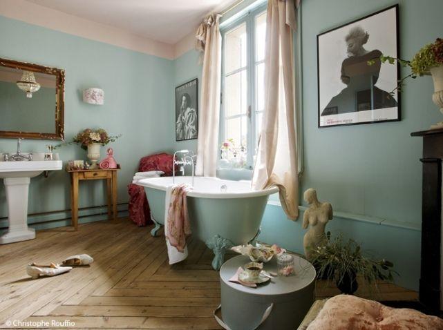 Murs salle de bains pastel bleu Plus Salle de bain Pinterest