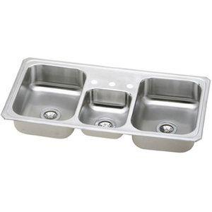 1 166 00 Elkay Ecmr43223 Celebrity Triple Bowl Sink Kitchen Sink