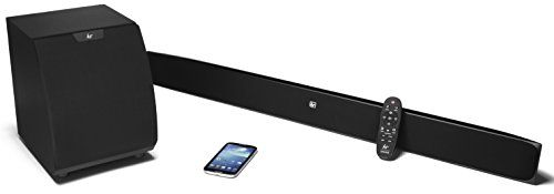 Cheap KitSound Upstage Slim 2.1 Soundbar and Subwoofer System with Bluetooth for All TV 39