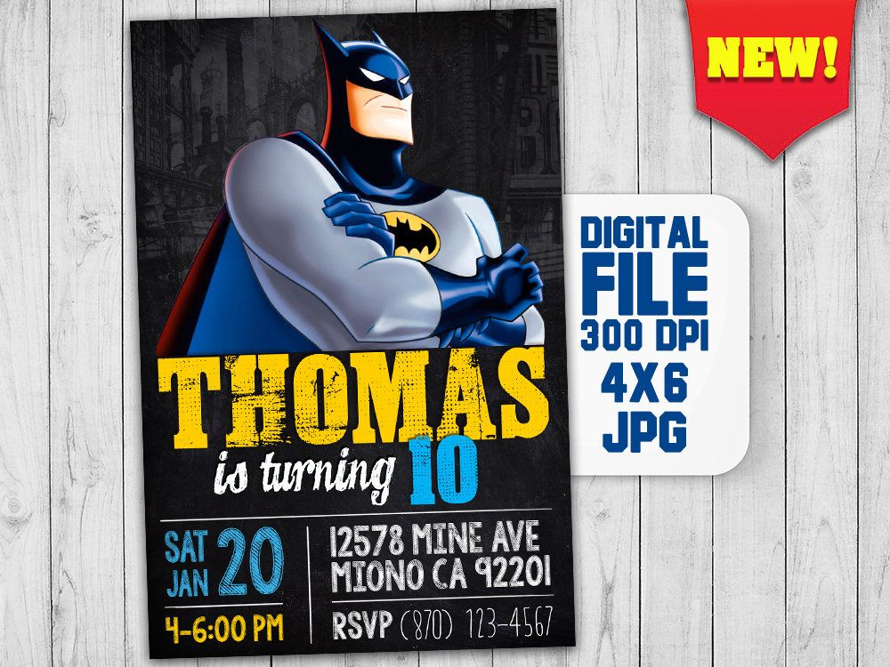 Batman invitation printable, Batman party printables, Batman ...