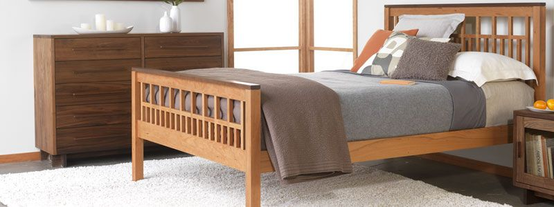 Handmade Solid Wood Beds Natural Cherry Maple Walnut Oak Usa Made